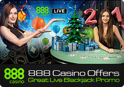 888 Casino Offers Great Live Blackjack Promo