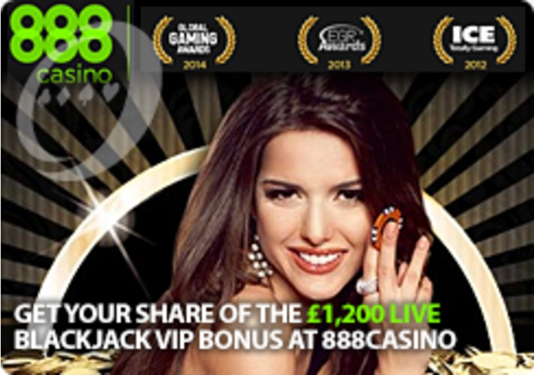 Get Your Share of the £1,200 Live Blackjack VIP Bonus at 888Casino