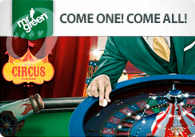 Win free spins by playing live roulette at Mr Green