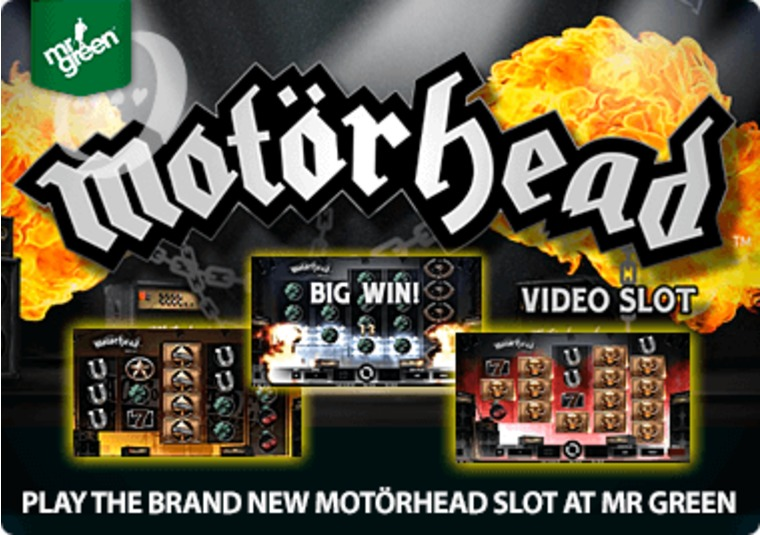 Play the brand new Motörhead slot at Mr Green