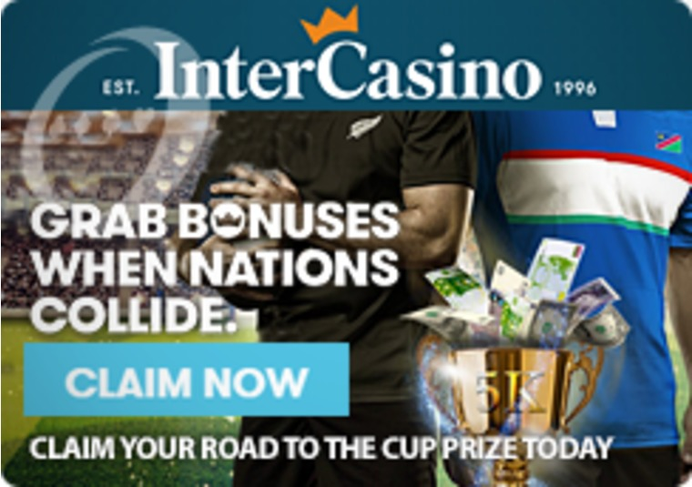 Earn your points during the Rugby World Cup and win with InterCasino