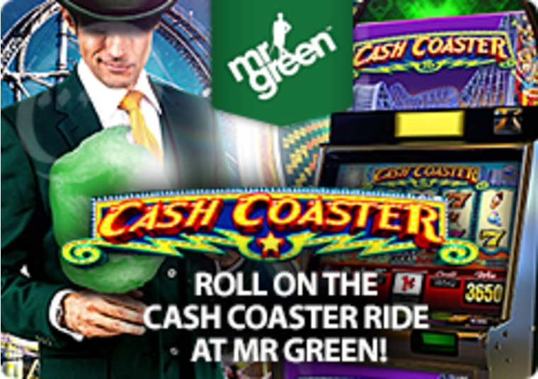 Roll on the Cash Coaster Ride at Mr Green