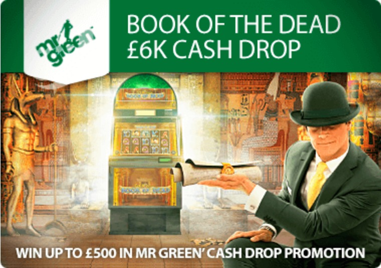 Win up to £500 in Mr Green's cash drop promotion
