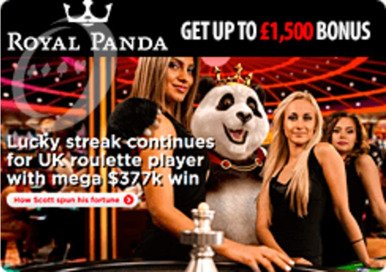 High roller wins over £285k at Royal Panda live roulette