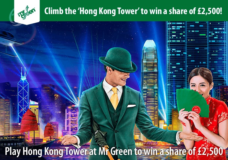 Play Hong Kong Tower at Mr Green to win a share of £2,500