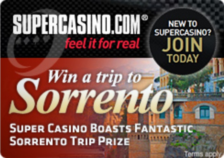 Super Casino Boasts Fantastic Sorrento Trip Prize