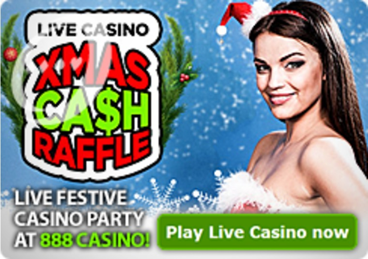 Live Festive Casino Party at 888 Casino