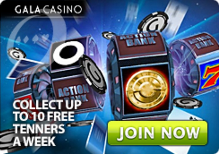 Get free tenners from Gala Casino to crack the safe at the Action Bank