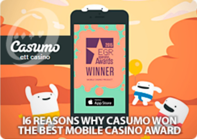 Find out why Casumo is the Best Mobile Casino - and get the new app