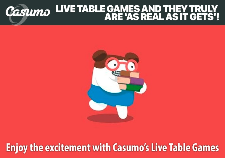 Enjoy the excitement with Casumo's Live Table Games