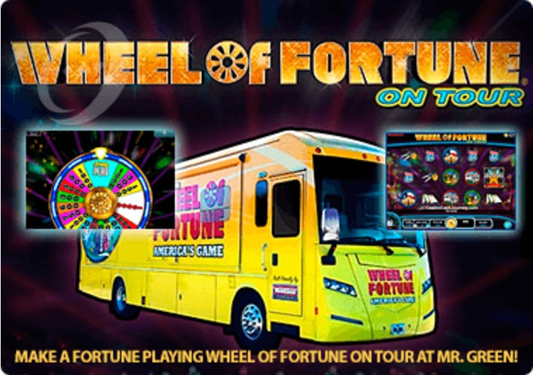 Make a fortune playing Wheel of Fortune on Tour at MrGreen