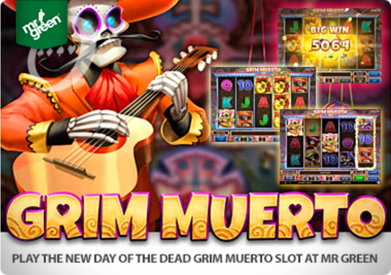 Play the new Day of the Dead Grim Muerto slot at Mr Green