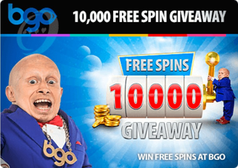 10,000 Free Spin Giveaway at bgo