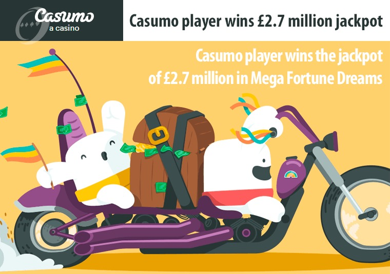 Casumo player wins £2.7 million jackpot