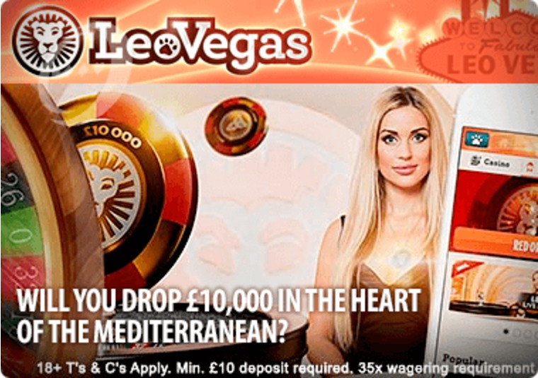 Win up to £10,000 Playing Roulette at LeoVegas this January