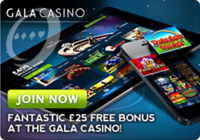 Fantastic £25 free Bonus at Gala Casino