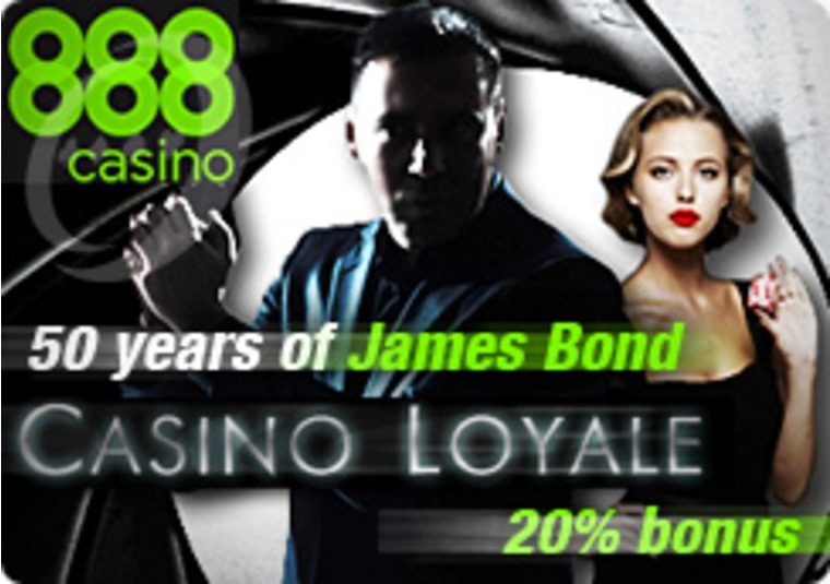 Celebrate 007 at the 888 Casino with Casino Loyale Programme