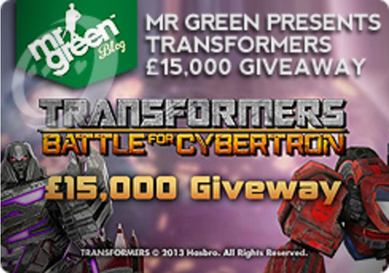 Mr Green Presents Transformers £15,000 Giveaway