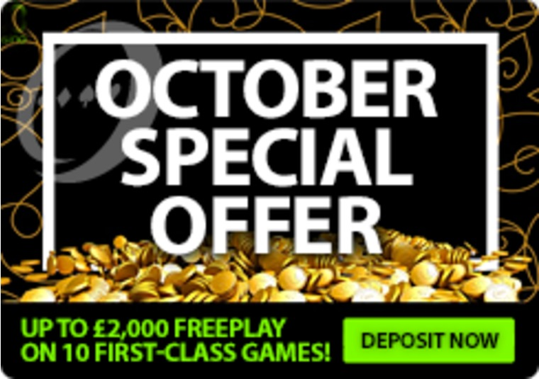 Get up to £2,000 in Free Play From 888casino in October