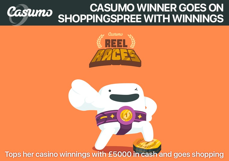 Casumo winner goes on shopping spree with winnings