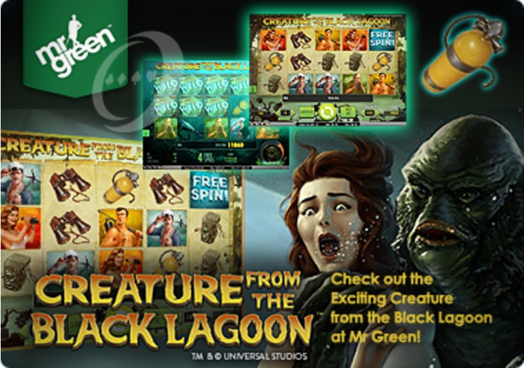 Check out the Exciting Creature from the Black Lagoon at Mr Green
