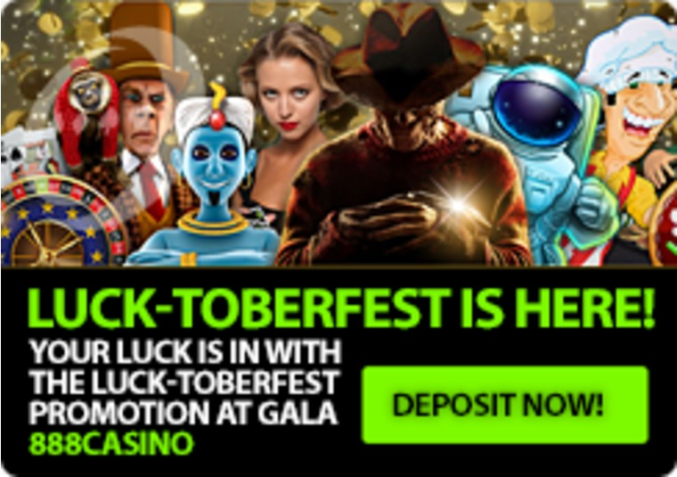 Your luck is in with the LUCK-toberfest promotion at Gala 888casino