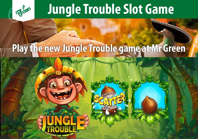 Play the new Jungle Trouble game at Mr Green