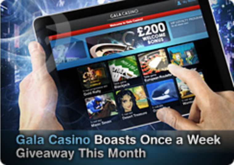 Gala Casino Boasts Once a Week Giveaway This Month