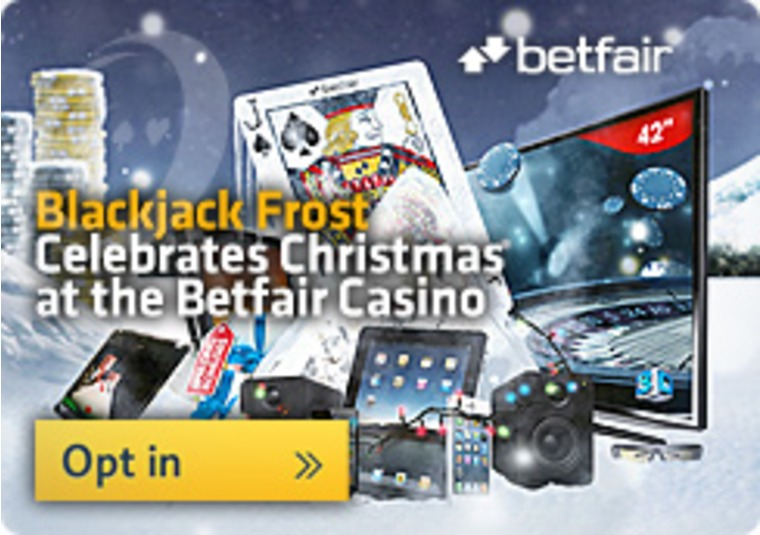 Blackjack Frost Celebrates Christmas at the Betfair Casino