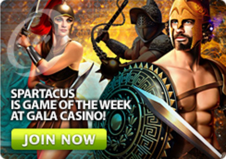 Spartacus is Game of the Week at Gala Casino