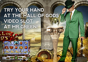 Try Your Hand at the Hall of Gods Video Slot at Mr Green