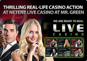 Thrilling real-life casino action at Netent Live Casino at Mr. Green
