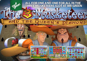 All for one and one for all in The Three Musketeers slot at Mr Green