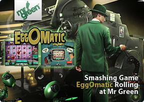 Smashing Game EggOmatic Rolling at Mr Green