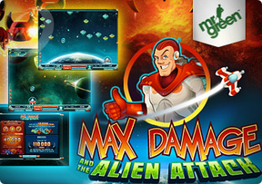 Max Damage and the Alien Attack Rolling at Mr Green