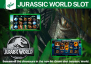 Beware of the dinosaurs in the new Mr Green slot Jurassic World