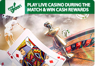Win cash rewards playing at Mr Green�s live casino during Euro 2016