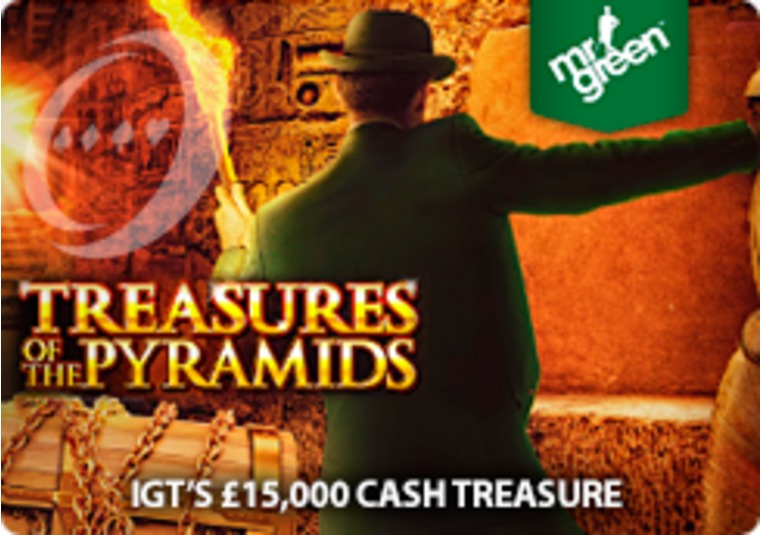 Go on a treasure hunt at Mr Green to claim your share of £15,000