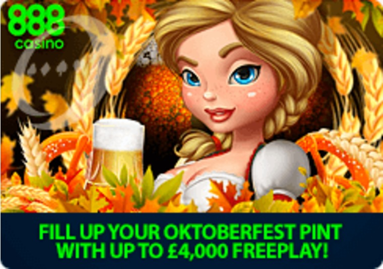 Celebrate Oktoberfest at 888casino with £4k in free play