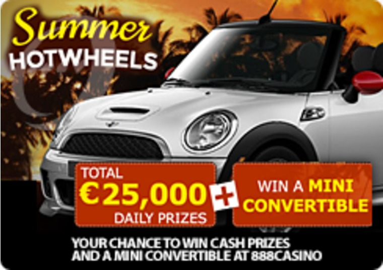 Your Chance to Win Cash Prizes and a Mini Convertible at 888casino