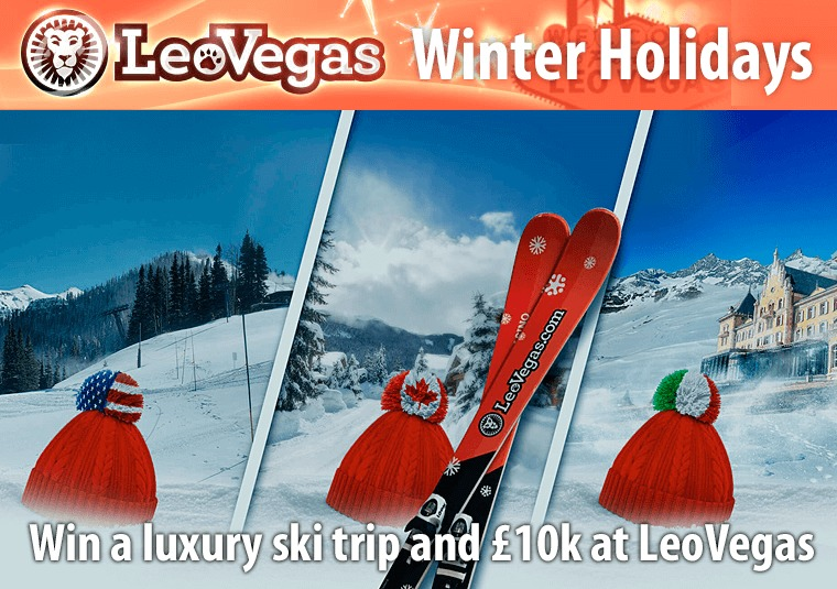 Win a luxury ski trip and £10k at LeoVegas
