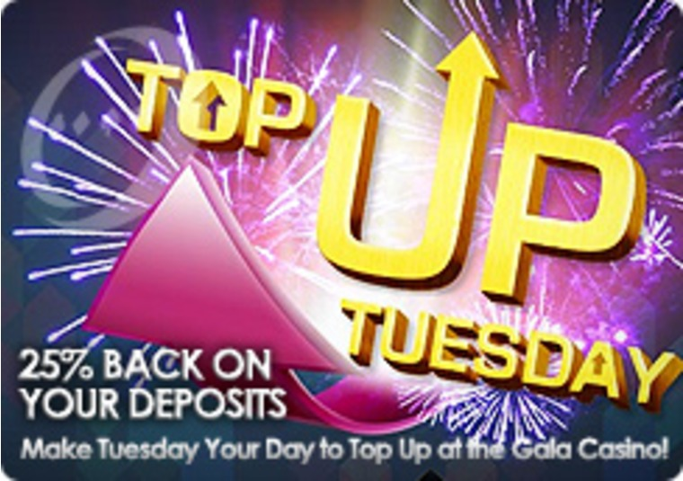 Make Tuesday Your Day to Top Up at the Gala Casino