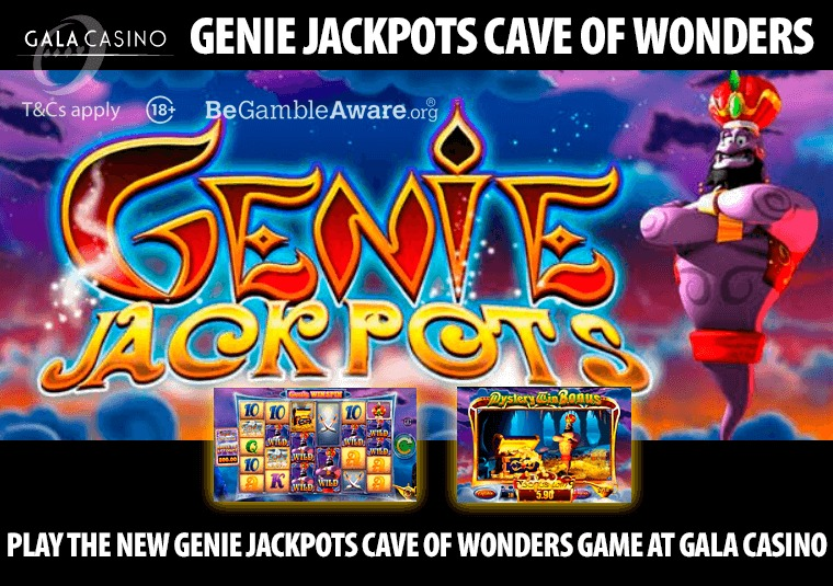 Play the new Genie Jackpots Cave of Wonders game at Gala Casino