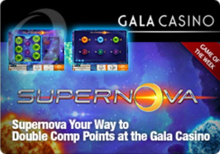 Supernova Your Way to Double Comp Points at the Gala Casino