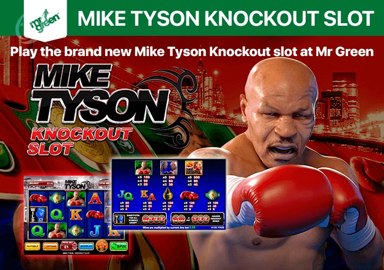 Play the brand new Mike Tyson Knockout slot at Mr Green