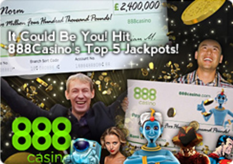 It Could Be You! Hit 888Casino's Top 5 Jackpots