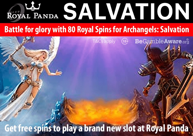 Get free spins to play a brand new slot at Royal Panda