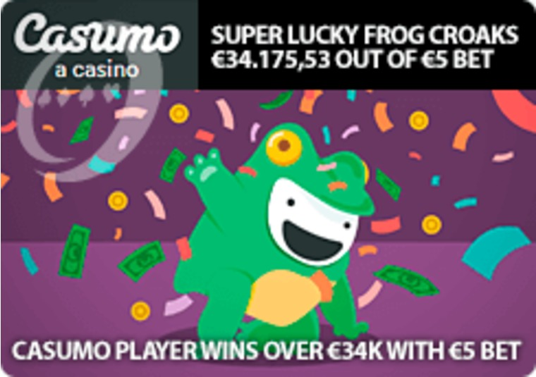 Casumo player wins over €34k with €5 bet