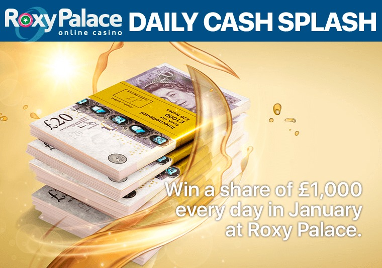 Win a share of £1,000 every day in January at Roxy Palace