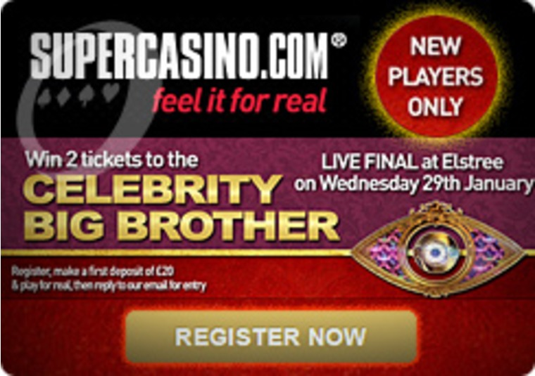 Celeb Big Brother Final Tickets Up for Grabs at the Super Casino